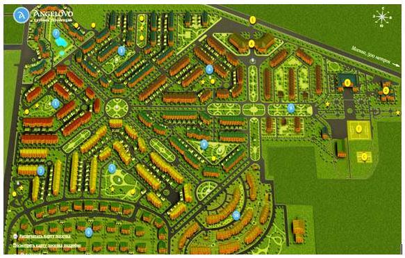 Генеральный план посёлка «Ангелово Residence»: