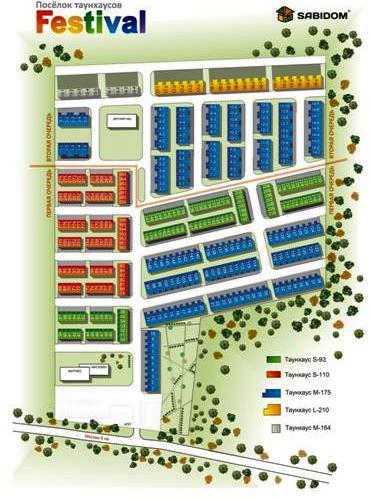 Генеральный план посёлка «Festival»