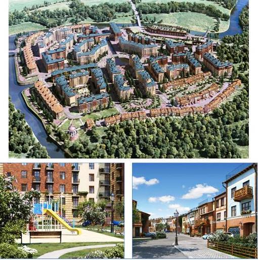 Генеральный план жилого комплекса «Город набережных»