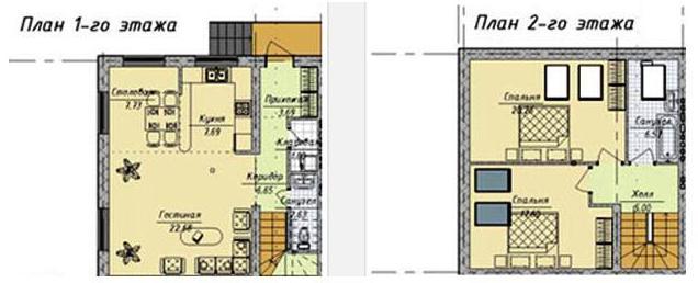 Пример планировки секции