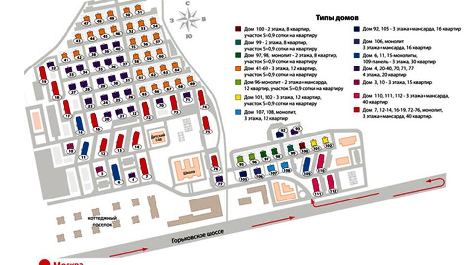 Малоэтажный комплекс «Сакраменто» - план