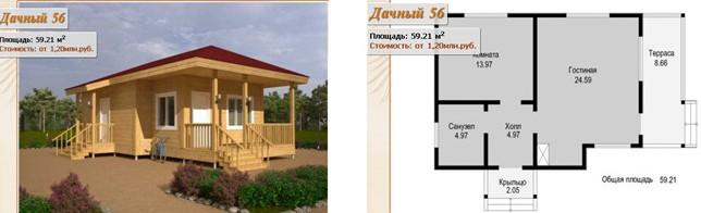 Проект дома в поселке «Тургеневские дачи»