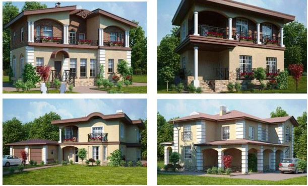 Примеры домов в поселке «Vita Verde»