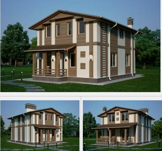 Проект дома 140 м2