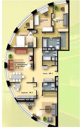 квартира на продажу в комплексе «Квартал Грюнвальд»